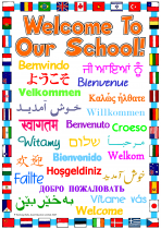 3. Welcome To Our School Poster