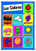 Spanish Colours Outdoor Learning Board