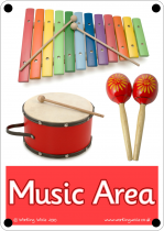Music Area Outdoor Sign - Photo Version