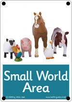 Small World Area Outdoor Sign - Photo Version