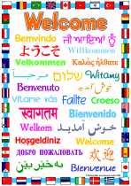1. Welcome Poster