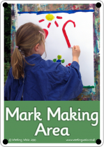 Mark Making Area Outdoor Sign - Photo Version