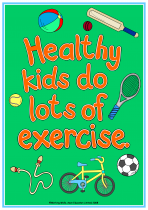2. Being Healthy Poster - Exercise