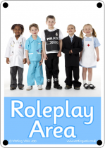 Roleplay Area Outdoor Sign - Photo Version
