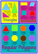 1. Mathematical Shapes Poster