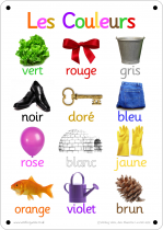 French Colours Photo Outdoor Learning Board