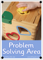 Problem Solving Area Outdoor Sign - Photo Version