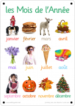 French Months Photo Outdoor Learning Board