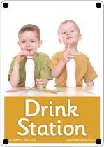 Drink Station Outdoor Sign - Photo Version