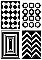 Black and White Patterns Poster Pack
