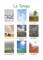 French Weather Photo Poster