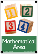 Mathematical Area Outdoor Sign - Photo Version