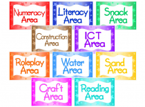 Learning Area Signs
