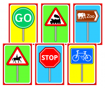 3. Road Signs Cue Cards
