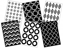 Black and White Patterns Cue Cards