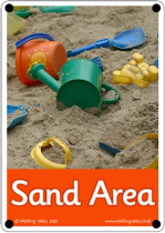 Sand Area Outdoor Sign - Photo Version