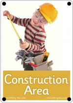 Construction Area Outdoor Sign - Photo Version