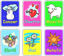 Welsh Months Flashcards
