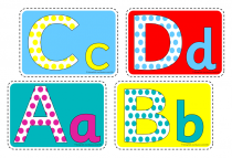 3. Upper and Lower  Case Alphabet Cue Cards