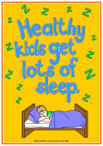 4. Being Healthy Poster - Sleep