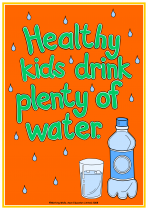 1. Being Healthy Poster - Water