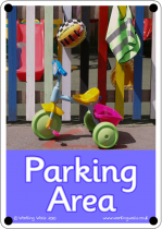 Parking Area Outdoor Sign - Photo Version