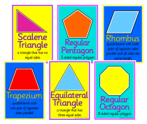 3. Mathematical Shapes Cue Cards